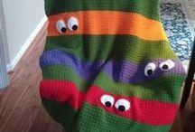 Ideer til hæklede og strikkede tæpper