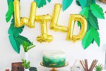 Party like...Safari / DIY Deko und Party Ideen für eine Mottoparty im Safari oder Dschungel-Stil. Perfekt für einen Kindergeburtstag mit Tieren bzw Zoo-Party oder eine stylische urban Jungle Party im angesagten Greenery Stil.