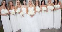 White Wedding Inspirations / Classic, romantic and timeless, we love an all-white wedding! Ideas from The Bride's Shoppe, Great Falls, MT. www.TheBridesShoppe.com