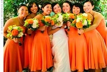 Orange & Tangerine Dream Wedding Inspirations / Fabulous wedding ideas in Bright Tangerine and Orange, from The Bride's Shoppe, Great Falls, MT. Like this collection? Check out our Citrus Wedding Inspirations Board, too! www.thebridesshoppe.com