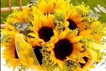 Sunflower Wedding Inspirations / Cheery and bright, sunflowers are wonderful theme for a summer or fall wedding! Inspirations from The Bride's Shoppe, Great Falls, MT  www.TheBridesShoppe.com