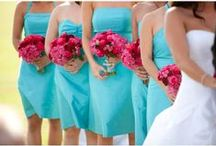 Turquoise & Fuchsia Wedding Inspirations / Brilliant ideas for your wedding in bright fuchsia and turquoise, from The Bride's Shoppe, Great Falls, MT www.thebridesshoppe.net
