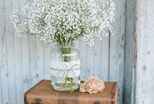 Baby's Breath Wedding Inspirations / Romantic wedding inspirations featuring delicate, white Baby's Breath, from The Bride's Shoppe, Great Falls, MT www.TheBridesShoppe.com