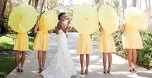 Yellow Wedding Inspirations / Inspirations in cheery yellow for your fabulous wedding! From The Bride's Shoppe, Great Falls, MT www.thebridesshoppe.com