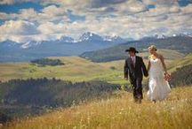 """Montana Wedding Inspirations / There is no better place to be married than in beautiful Montana! With pristine lakes, majestic mountains, wide clear rivers, miles of prairie grass and fishing streams, Glacier National Park, and Yellowstone...there is a reason it's called """"Big Sky Country"""". Marry in Montana and make it your """"home away from home""""! The Bride's Shoppe is centrally located in Great Falls, and has been assisting Montana brides for over 40 years!"""