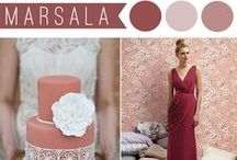"""Marsala Wedding Inspirations / Pantone's Color of the Year for 2015 is """"Marsala"""", an earthy red wine that would be perfect for a Vintage or Rustic Wedding. www.TheBridesShoppe.com"""