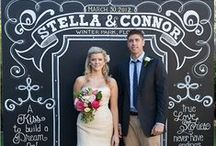 Chalkboard Wedding Inspirations / We love the idea of a simple chalkboard being transformed into the perfect wedding prop! Here is a collection of ideas for your Chalkboard Themed Wedding...from The Bride's Shoppe, Great Falls, MT www.TheBridesShoppe.com