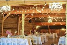 The Homestead Wedding / It's time to start planning...! I love the idea of a rustic, sunset ceremony in the stables. Hay bales, sunflowers, exposed wood.. I love the idea of a sleeker, chic-er reception in the indoor-riding Arena with candles/little lights, not flowers. Astro-turf floor covering.  Those are my thoughts and tangents so far! x