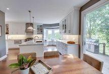 Open bright concept kitchen space / foxglovedesign.ca