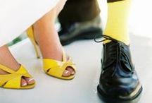 Inspirations mariage / Jaune et Gris / Inspiration en jaune et gris pour un mariage frais et chic!