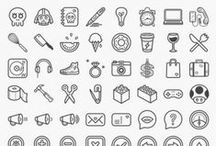 selected icons