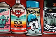 Street art, Stickers & Co
