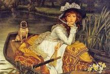 Tissot Paintings / Tissot had an amazing eye for detail and texture. His paintings are a boon for costumiers!