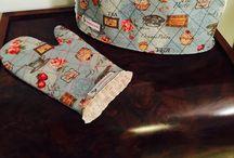 Kitchen ideas / Puxa sacos e luva de travessa. Para venda