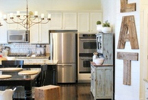 KITCHEN & LAUNDRY / Some Kitchen designs that I like along with some other kitchen & laundry ideas. / by Melinda Hase