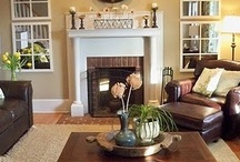 LIVINGROOMS / Livingroom designs including color schemes, bookcases fireplaces & dining rooms. / by Melinda Hase