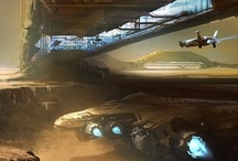 Concept Art / Concept art landscapes, vehicles, and characters. / by Nate Girard