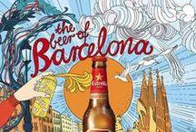 Barcelone graphique / Graffitis, affiches, pubs, enseignes de magasin, expos, graphisme urbain