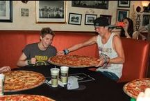 5 Seconds of Summer at Russo's / 5SOS took on Russo's 28 Inch Pizza Eating Challenge in Houston July 20, 2013. Russo's New York Pizzeria loved getting to know Ashton, Luke, Michael and Calum. / by Russo's Restaurants