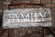 Signs & Wooden Blocks / by Brenda Pel