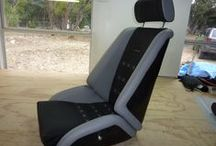 Our Seats / Classic seats and custom designed seats and interiors for all our ( customers  and) cars.See our selection of seat models that are all hand manufactured in Texas on our website: ClassicCarSeats.com