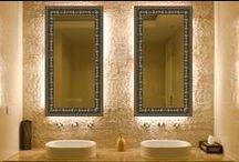 Łazienka / Inspiracje na szklane dekoracje łazienki.