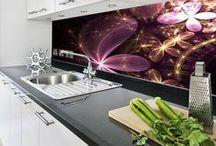 Kuchnia / Inspiracje na szklane dekoracje kuchni.