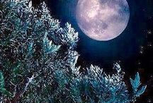 Moon, month.  Луна, месяц, Небо.
