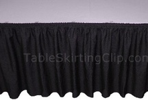 Table Skirts & Table Skirting / Table skirts are an easy way to add flair to any table. Table skirting gives a professional look to an otherwise ordinary table!