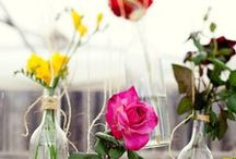 Wedding | Table Centrepieces / Ideas for table centres and places
