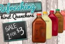 Oberweis Sweet Drinks / Quench your thirst with our Oberweis Sweet Drinks! They are Simply The Best with all natural ingredients, no artificial colors, and no preservatives! All are available in half gallons, and the iced tea, lemonade, and fruit punch are available in 12 oz. single serve bottles!
