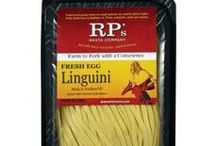 RP's Fresh Pasta & Sauce / Looking for a quick meal that is still delicious? RP's pasta tastes great and takes less than 5 minutes to boil! It is never frozen and always made in small batches to ensure perfection. They have gluten free and wheat free options as well! Pair these pasta's with either of the RP's sauces for the perfect meal. TIP: Try mixing the Basil & Tomato and Garlic Alfredo Sauce for an interesting sauce combination!