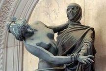 La Morte / nell'Arte: in particolare in sculture, affreschi, raffigurazioni in cripte e altro che la riguarda.