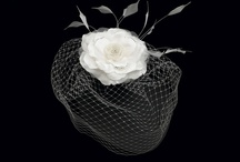 Cage Veils & Silk Flowers / Headpieces dont have to be simple to make a statement