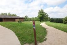 "The Trails / The Kickapoo Valley reserve has over 40 miles of trails.  Many miles of natural surface trails and several miles of ""greenway"" paved surface trail."