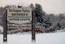 Kickapoo Valley Reserve Visitor Center / Completed in 2004 and located 1.5 miles north of the village of La Farge on State Highway 131, the Kickapoo Valley Reserve Visitor Center is a beautiful addition to the Reserve that graces the river valley and melds with the landscape. / by Kickapoo Valley Reserve