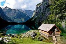 Bavière : lacs, nature et paysages / Paysages de Bavière avec les lacs, montagnes, rivières, etc.