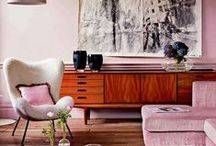 Mid Century Modern Pink Decoration