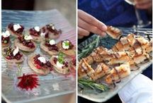 Hors d'Oeuvres   Blue Heron Catering / A selection of the many hors d'oeuvres options by Blue Heron Restaurant & Catering