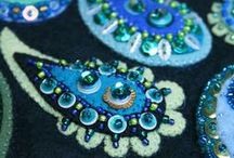 Adorn - Applique Textiles / Inspiration for wrap fabric bangles and DIY appliqued jewellery
