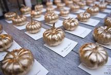 Dekor: gold pumpkin