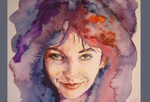 Watercolour Portraits / Paintings / by Maja Brookes