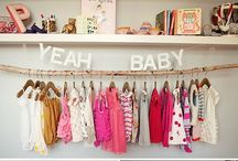 Nursery Love. / An inspiration board for our sweet little baby girl's nursery. She arrives in August 2013.  Let the countdown and nesting begin.   / by Lisa Locklin