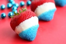 Red, White, and Blue Food / Patriotic and colorful food for the fourth!