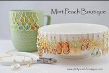 Mint Peach Boutique / Simple, Casual, Delicate & Elegant Custom Handmade Jewelry.  www.mintpeachboutique.etsy.com / by Mint Peach Boutique