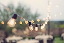Wedding & Event Lighting / Indoor and outdoor lighting ideas for weddings and events