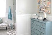 Home Inspiration: Bathroom / Mood board for en suite and bathroom