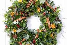 Christmas Winter Wreath Ideas / Ideas for making Christmas wreaths