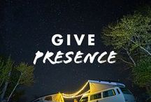 Give Presence / This holiday season let's give the gift of mindful presence. Grab your loved ones, get outside, unplug, and live in the moment.  #FindPresence