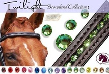 "Twilight Collection of Browbands / If you want an affordable Bling Browband but with just the right amount of subtle sparkle, Beasties Horse Tack ""Twilight"" Collection is for you. Each browband offers a hint of glimmer without too much pizaaz. These self-padded and twinkling browbands are beautifully made, each hand crafted and set with 5mm Genuine CRYSTALLIZED™ Swarovski Stones. Not only do they allow you to color co-ordinate your image, but they are made of top quality Italian leather, and made to last."